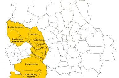 Karte Planungsraum Westen