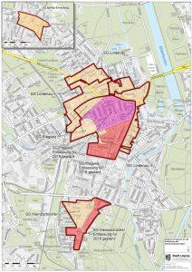 Sanierungsgebiete im Leipziger Westen